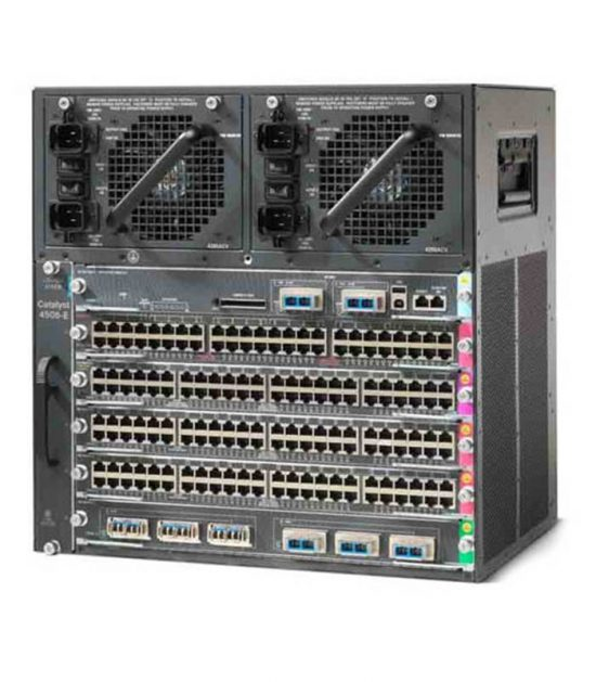 Cisco WS-C4506-E chassis with accessories and cards
