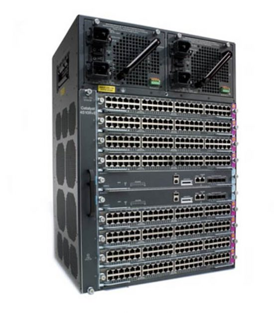 Cisco WS-C4510R+E chassis with accessories and cards